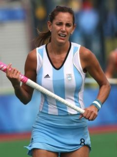 Luciana Aymar is known as the Maradona of female field hockey