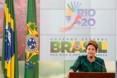 President Rousseff at the opening of the summit that brings together 50.000 delegates and over 115 world leaders