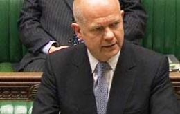 Foreign Secretary Hague made the announcement to the UK Parliament