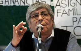 Hugo Moyano, leader of Argentina's organized labour has the political initiative (Photo: NA)