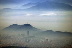 Santiago de Chile is ranked the third worst city in air pollution in the world