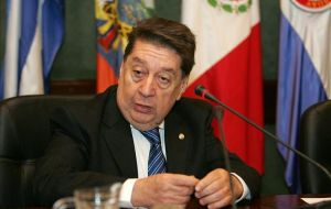 "Foreign minister Fernandez Estigarribia, ""they have no right to kick us out of any meeting"""
