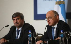 Argentine Foreign minister read the Unasur declaration