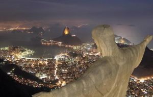 Christ the Redeemer on Corcovado Mountain an icon of the city and Brazil