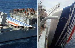 The Brazilian navy found debris floating in the middle of the Atlantic