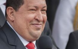 """Great news for a new Venezuela and new South America"", said Chavez"