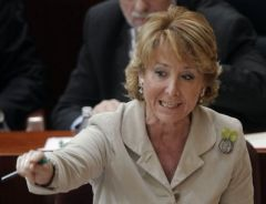 "Esperanza Aguirre: ""very simple, we can't spend more than we make"""