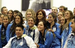 Cristina Fernandez will miss sports' largest party