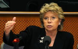 "EC Vice president Viviane Reding: ""closing the loopholes"""