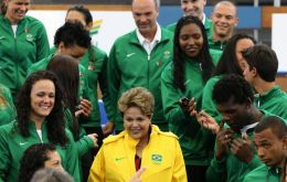 The Brazilian president is attending the London Games