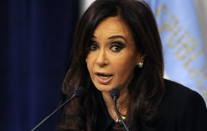 On that day the Argentine president is expected to reaffirm the current economic model