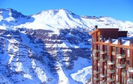 Ski resorts packed with visitors from warm climates