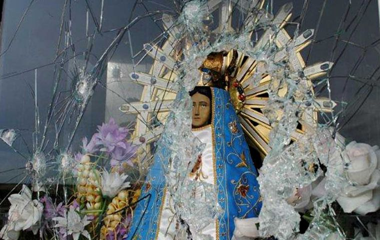 The hermitage has a statue of the Virgin of Lujan, Argentina's patron saint (Photo: La Nacion)