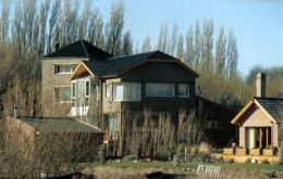 The family home in El Calafate where the former president died