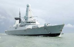 The ultra modern Type 45 destroyer