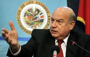 "Insulza said the issue to be discussed is ""the inviolability of the diplomatic premises of Ecuador"""