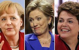 The German chancellor dominates the Euro area, Hillary US policy and Dilma the sixth world economy