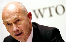 "WTO Director General Pascal Lamy, ""a sign of confidence in the organization"""