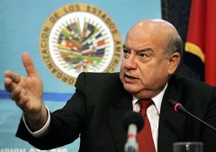 "Insulza said that ""political forces are operating quite normally"" and that there is ""a broad debate, among all the parties"""