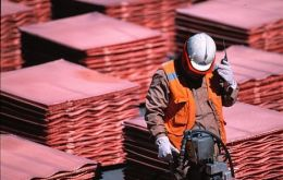 Booming copper exports from the world's main producer