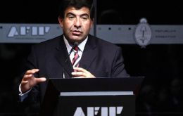 AFIP chief Ricardo Echegaray: to ensure football's coherence and transparency