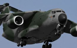 KC-390 military air transport developed jointly with Argentina, Chile and Colombia
