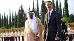 King Abdullah of Saudi Arabia and Syria's Bashar Hafez al-Assad