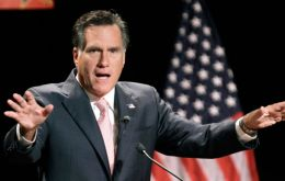 Romney's proclamation could have to dispute news space with the tropical storm  (Photo AP)