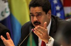 "Minister Maduro welcomed the proposal to keep ""major powers from interfering in Syria's internal affairs"""
