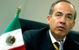 President Calderon who steps down from office next month made the announcement