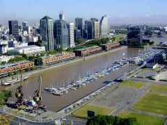The centre would be located in a derelict area next to the glitzy Puerto Madero district