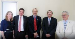 MLAs Dick Sawle and Dr. Barry Elsby with members of the British embassy in Guatemala City