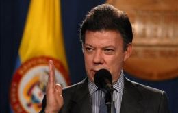 """We won't give up one centimeter of national territory or cease operations"", said the Colombian president"