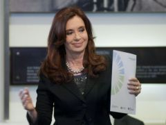 The Argentine president apparently overdid her acting at the video conference