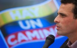 Capriles promises a revolution where people have water, power and good jobs