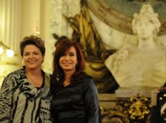 Brazil's Dilma has 62% support and Cristina Fernandez, 41%