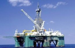 The rig Leiv Eriksson is drilling 315 kilometres east-northeast from Stanley