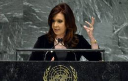 "Cristina Fernandez: ""we do not ask the UK to tell us we are right, we are asking them to sit down"" (Photo AFP)"
