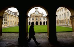 The grounds of Cambridge University, ranked number 2