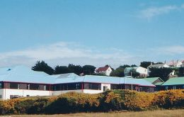 The Falklands hospital in Stanley