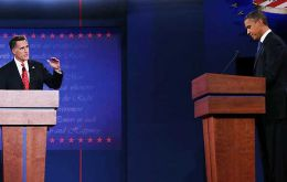 Romney came out more bullish and the President at times hesitant