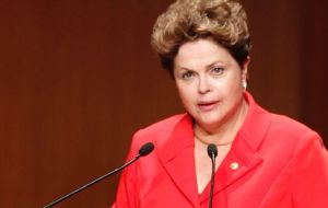 President Rousseff was on the phone with her peer Santos