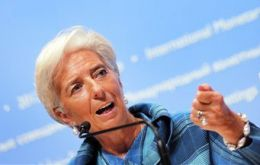 The announcement comes just ahead of the IMF meeting in Tokyo where Lagarde called for action from member countries (Photo: AP)