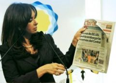 Cristina Fernandez is determined to split the Clarin group next December 7