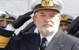 Vice-Admiral Martin was involved in the Falklands conflict with the 'Santa Fe' submarine