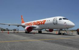 Before the end of the year Conviasa will have in operations three E-190s (Photo: AVN)