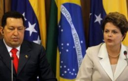 Presidents Chavez, Franco and Dilma: not much time left to reorganize the summit
