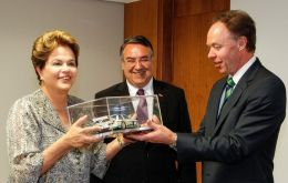 President Rousseff and BMW Robertson at the Planalto Palace