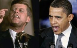 Kennedy and Obama two milestones  (Photo AP)