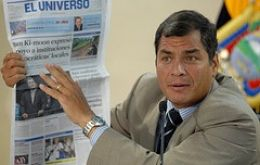"""Tensions between a starkly polarised media and President Correa's self-styled revolutionary government have never been higher"""